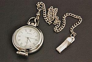 ルーペ付 懐中時計(ブリキケース入)181G-9