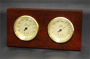 TM758ウッディEX 温湿度計