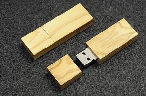 高圧縮・高級天然木UABメモリ(4GB)