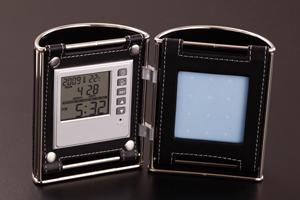7818ツインペンスタンド(フォトフレーム+ツインペン立て+多機能時計)