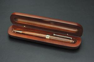 A30-05木軸ミニケース入り木製ボールペン エクサ
