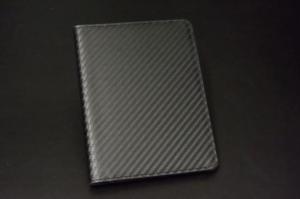カーボン風レザーパスポートケース