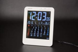 KW9020カラーカレンダー電波時計
