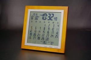 TSB-363木枠カレンダー電波時計