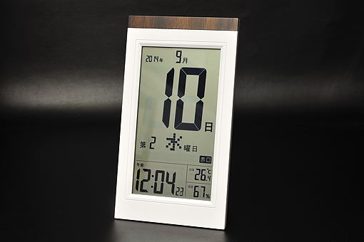 KW9254デジタル日めくり電波時計【1401-s0502】