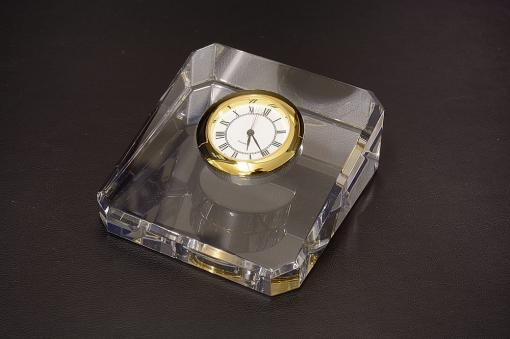 エコロジー・クリスタル時計オーナメント232g-8a【1739-s0783】