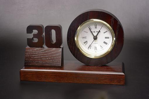 10〜90周年記念専用 木製周年記念時計【1706-s0808】