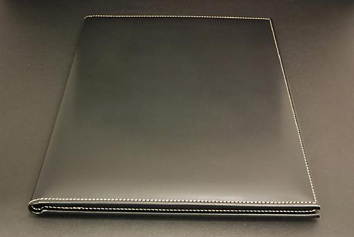 パドヴァ 牛革製A4レポートホルダー(BK,BW)【0919-s0105】