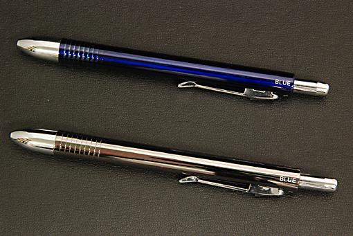 メタリック調4アクションペン(BL,BK):シャープ&ボールペン【0908-s0151】