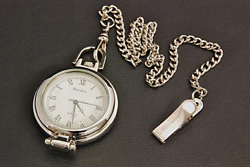 ルーペ付 懐中時計(ブリキケース入)181G-9 【0909-s0166】