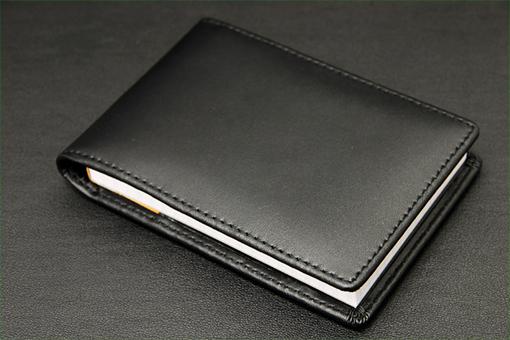 LE404牛革携帯メモパッド(ロディアメモ付き)【1026-s0185】