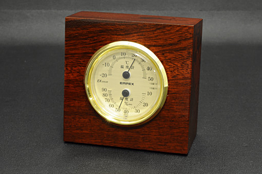 TM757ウッディEX 温湿度計【1132-s0258】