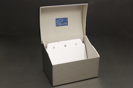 philippi 164037メタル製カードボックス(鏡面磨き)【1230-s0368】