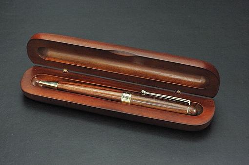 A30-05木軸ミニケース入り木製ボールペン エクサ【1406-s0546】
