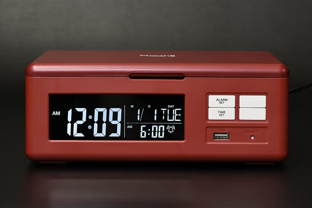 フォッシュ(PS-2)スマホクリーン+充電機能付きクロック【2101-s1019】