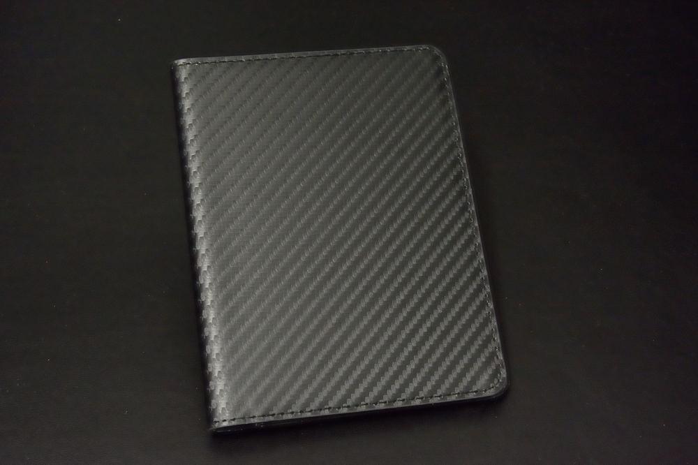カーボン風レザーパスポートケース【1508-s0591】