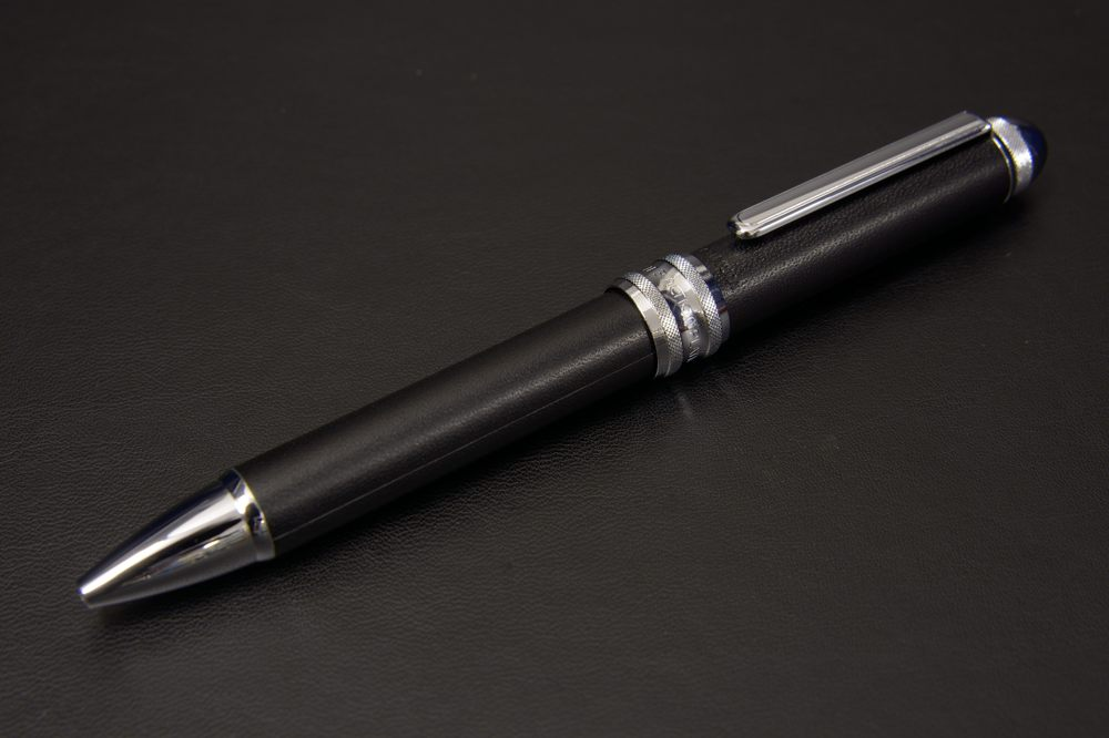 MWBL-5000#1 プラチナ万年筆 ヌメ本革巻き複合ペン【1635-s0665】