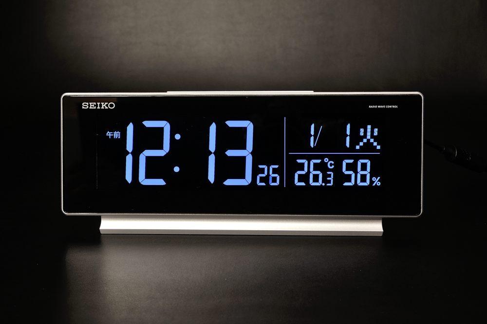 セイコー seriesC3 交流式デジタル電波時計 143g-5【1750-s0781】