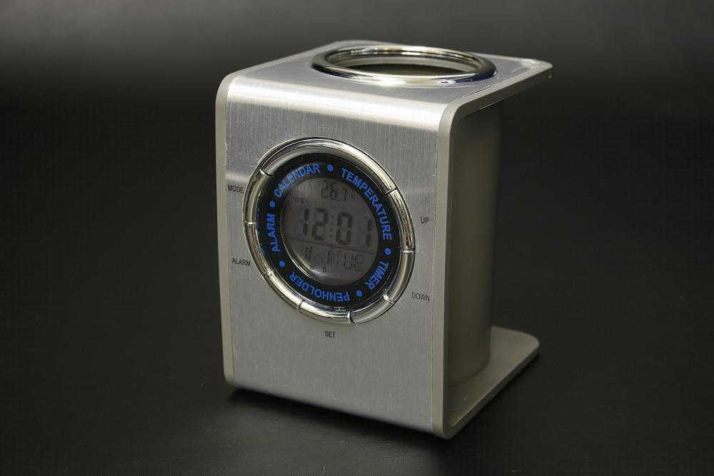 432-05A メタルペンスタンドクロック【1849-s0883】