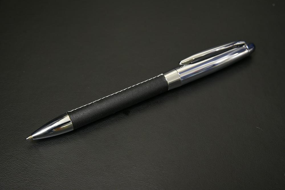 445-06A レザー調グリップメタルボールペン【1849-s0885】