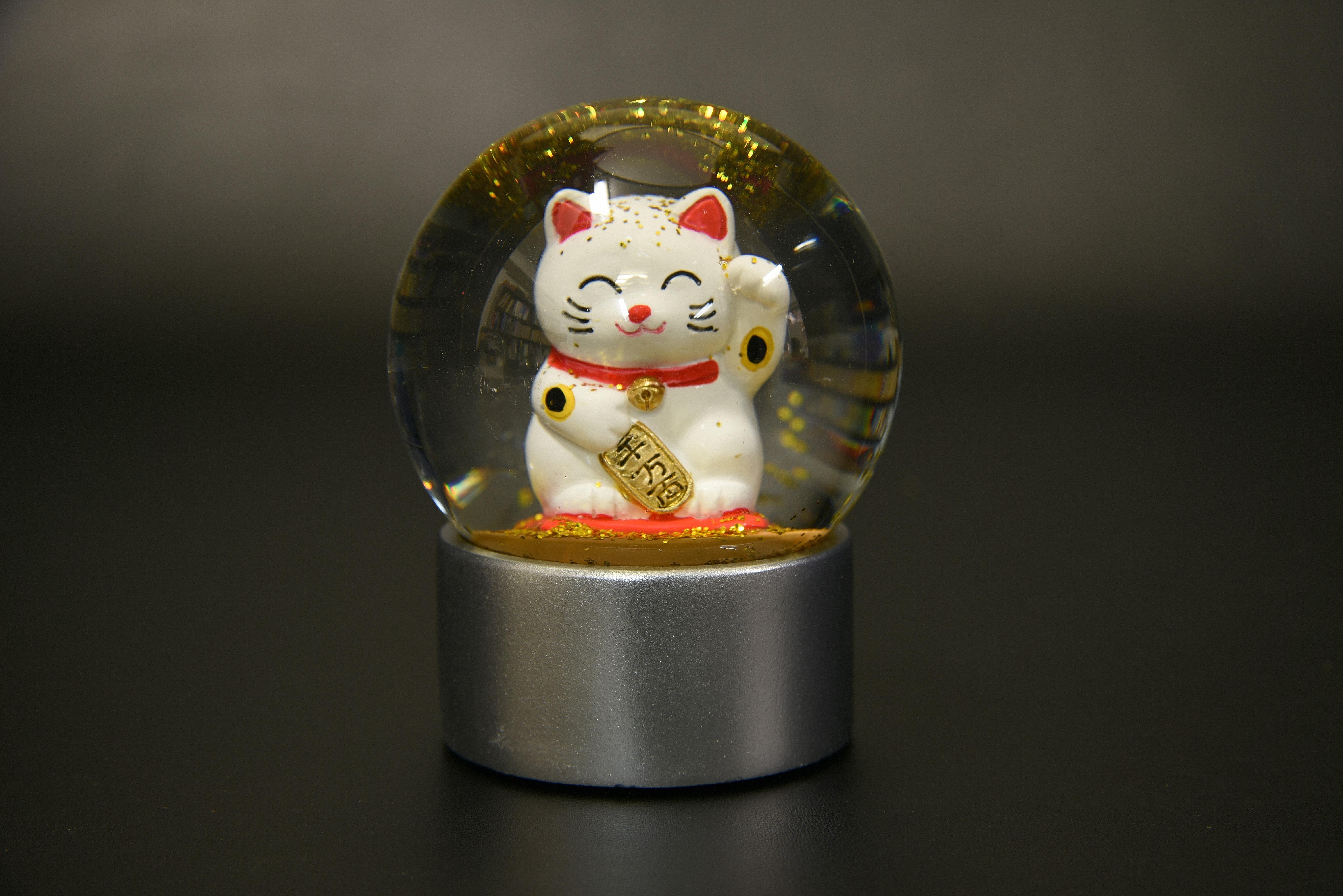 720-010スノードーム招き猫【1917-s0903】