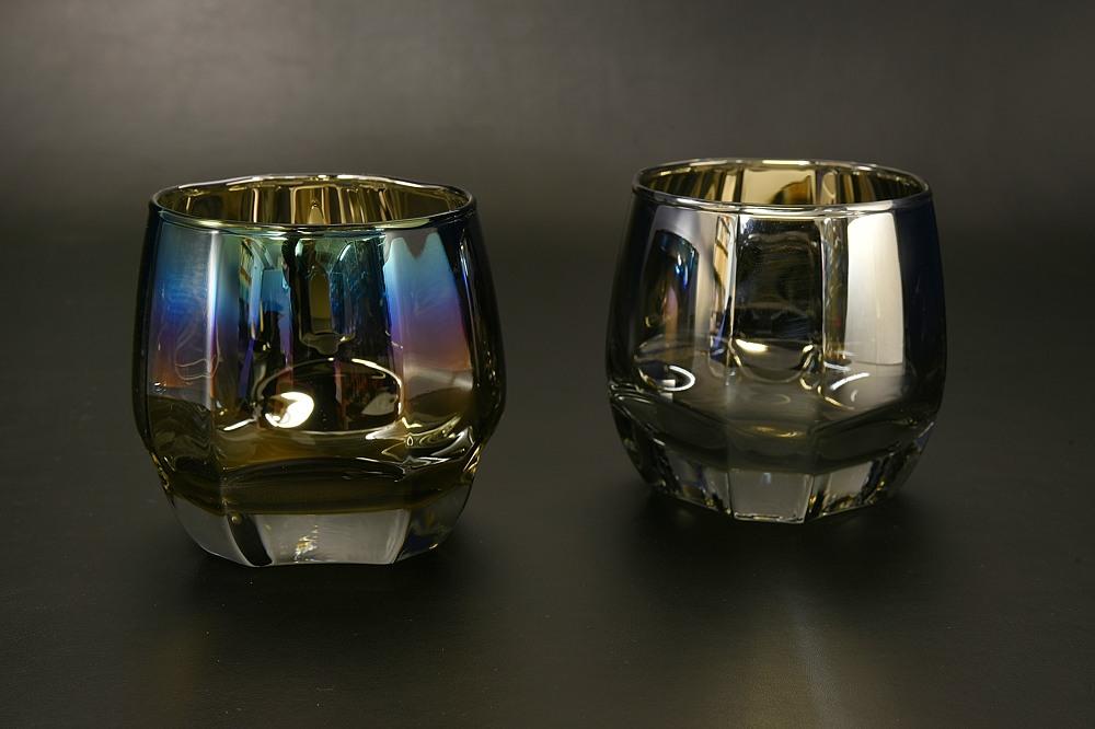 チタンコートグラス Crown(シルバー/インフィニティ)1個入り【1955-s0908】
