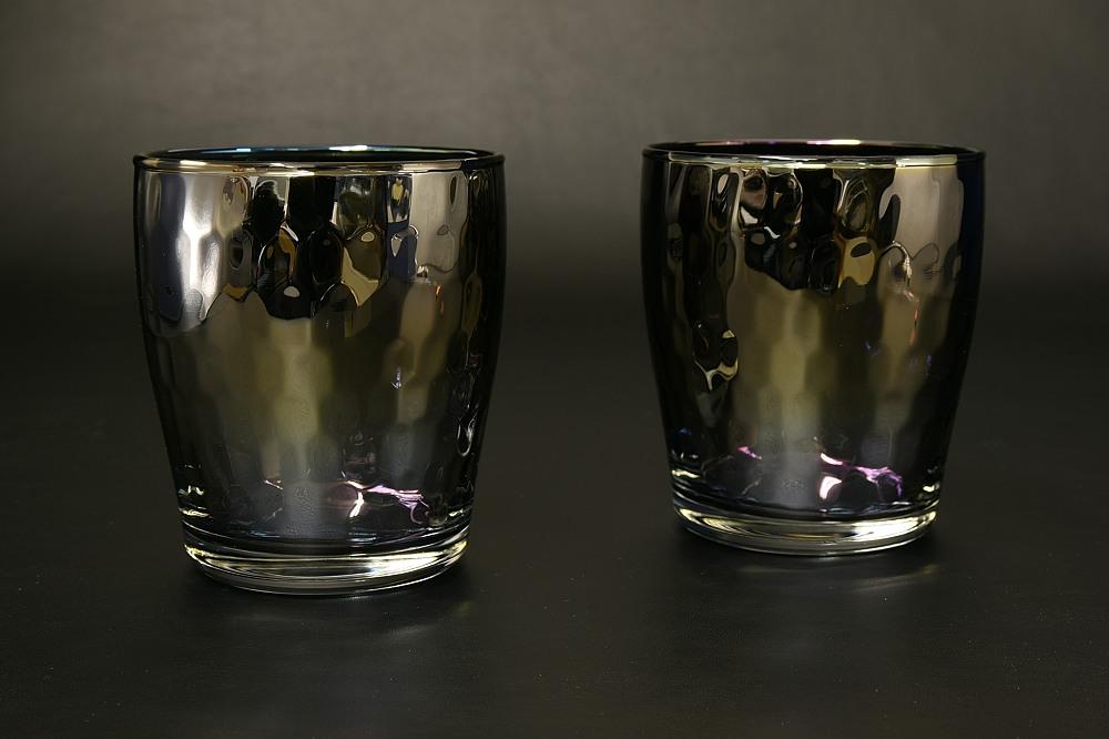 チタンコートロックグラス Glow(オーロラぺアセット)【1955-s0910】
